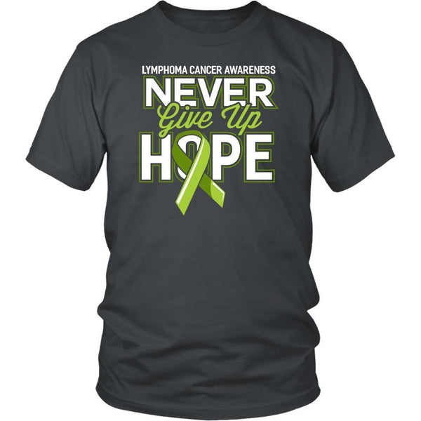 Lymphoma Awareness Never Give Up Hope Awesome Cool Gift Ideas TShirt-T-shirt-District Unisex Shirt-Grey-JoyHip.Com