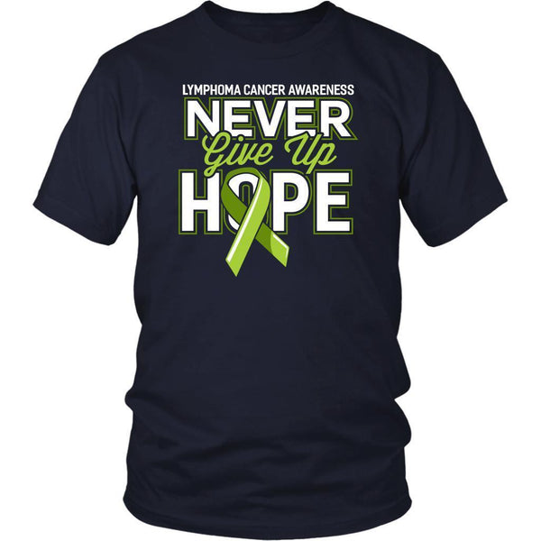 Lymphoma Awareness Never Give Up Hope Awesome Cool Gift Ideas TShirt-T-shirt-District Unisex Shirt-Navy-JoyHip.Com