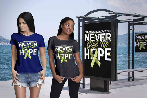 Lymphoma Awareness Never Give Up Hope Awesome Cool Gift Ideas TShirt-T-shirt-JoyHip.Com