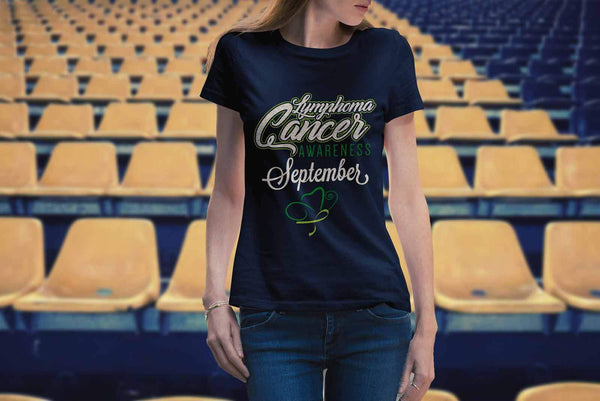 Lymphoma Awareness September Lime Green Ribbon Awesome Cool Gift Women TShirt-T-shirt-JoyHip.Com