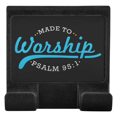 Made To Worship Psalm 95:1 Christian Cell Phone Monitor Holder Laptop Desktop-Moniclip-Moniclip-JoyHip.Com