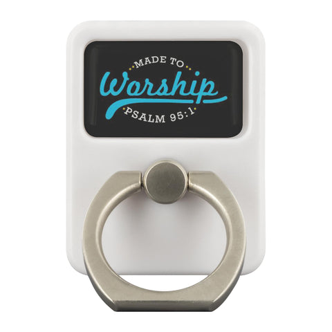 Made To Worship Psalm 95:1 Christian Phone Ring Holder Religious Kickstand Gifts-Ringr - Multi-Tool Accessory-Ringr - Multi-Tool Accessory-JoyHip.Com