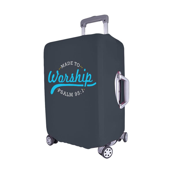 Made To Worship Psalm 95:1 Christian Travel Luggage Cover Suitcase Protector-JoyHip.Com