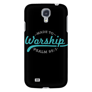 Made To Worship Psalm 95:1 iPhone 6/6s/7/7s/8 Plus Case Christian Bible Verses Inspirational Scripture Quote-Phone Cases-Galaxy S4-JoyHip.Com