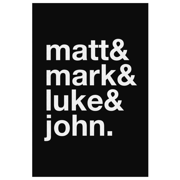 Matt & Mark & Luke & John Christian Canvas Wall Art Room Decor Gift Religious-Canvas Wall Art 2-8 x 12-JoyHip.Com