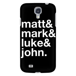 Matt & Mark & Luke & John iPhone 6/6s/7/7s/8 Plus Case Christian Bible Verses Inspirational Scripture Quote-Phone Cases-Galaxy S4-JoyHip.Com