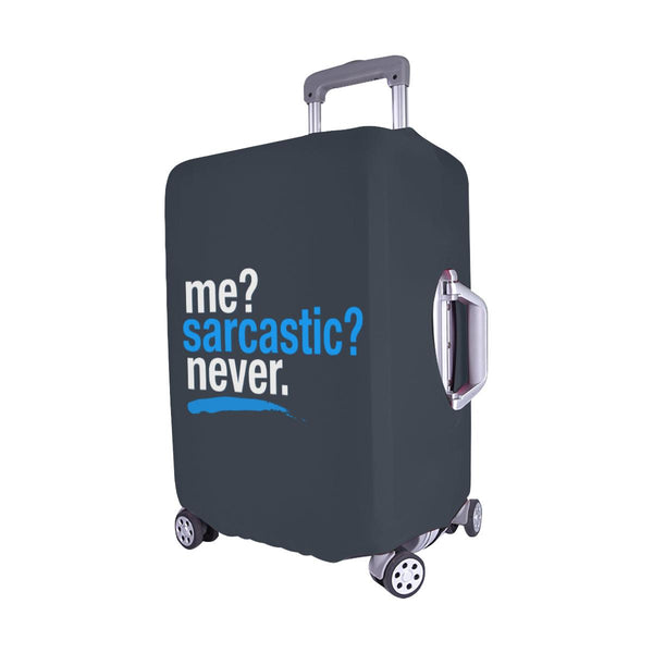 "Me Sarcastic Never Funny Sarcasm Travel Luggage Cover Suitcase Protector 18""-28""-JoyHip.Com"