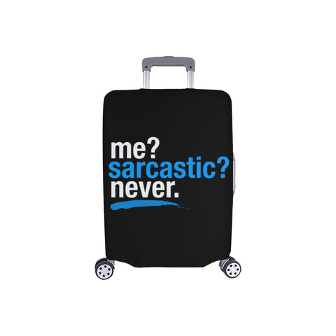"Me Sarcastic Never Funny Sarcasm Travel Luggage Cover Suitcase Protector 18""-28""-S-Black-JoyHip.Com"