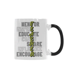 Mentor Inspire Educate Coach Share Influence Encourage Teacher Color Changing/Morphing 11oz Coffee Mug-Morphing Mug-One Size-JoyHip.Com