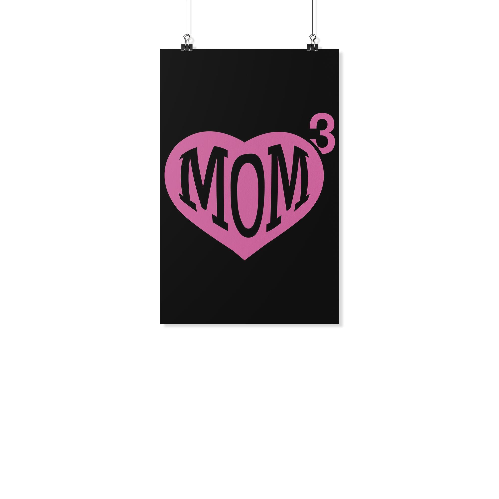 Mom 3 Kid Cube Triple Funny Cute Mother Day Poster Wall Art Room Decor Gift Idea-Posters 2-11x17-JoyHip.Com