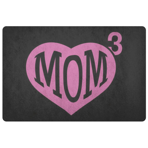 Mom 3 Kids Cube Triple 18X26 Door Mat 1st Mothers Day Gifts Idea Funny Best Cute-Doormat-Black-JoyHip.Com