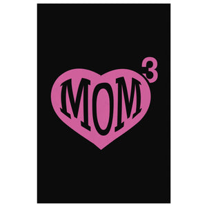 Mom 3 Kids Cube Triple Funny Cute Mothers Day Canvas Wall Art Room Decor Gift-Canvas Wall Art 2-8 x 12-JoyHip.Com