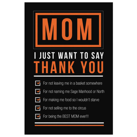 Mom I Just Want To Say Thank You Funny Cute Mothers Day Canvas Wall Art Decor-Canvas Wall Art 2-8 x 12-JoyHip.Com