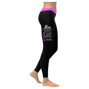 Mom No Matter What Life Throws You Soft Leggings For Women Mothers Day Gift Idea-XXS-Black-JoyHip.Com