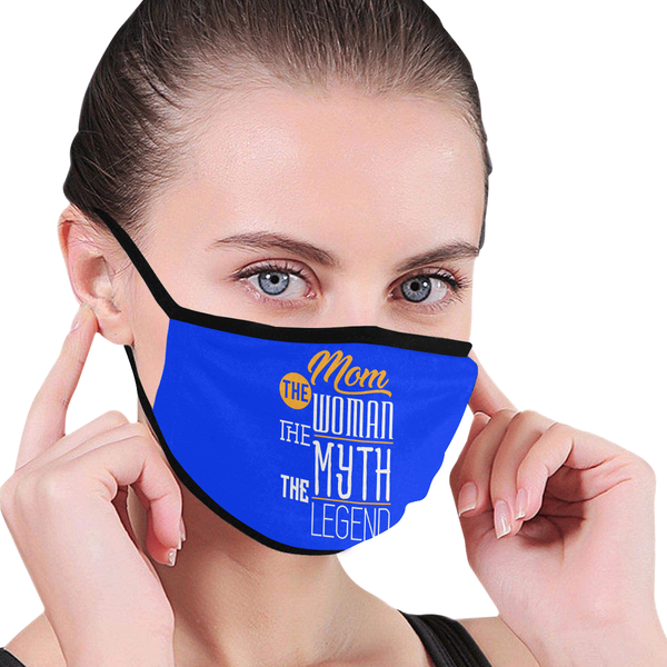 Mom The Woman Myth Legend Funny Washable Reusable Face Mask With Filter Pocket-Face Mask-JoyHip.Com
