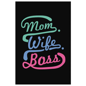 Mom Wife Boss Funny Cute Mothers Day Canvas Wall Art Home Room Decor Gift Ideas-Canvas Wall Art 2-8 x 12-JoyHip.Com
