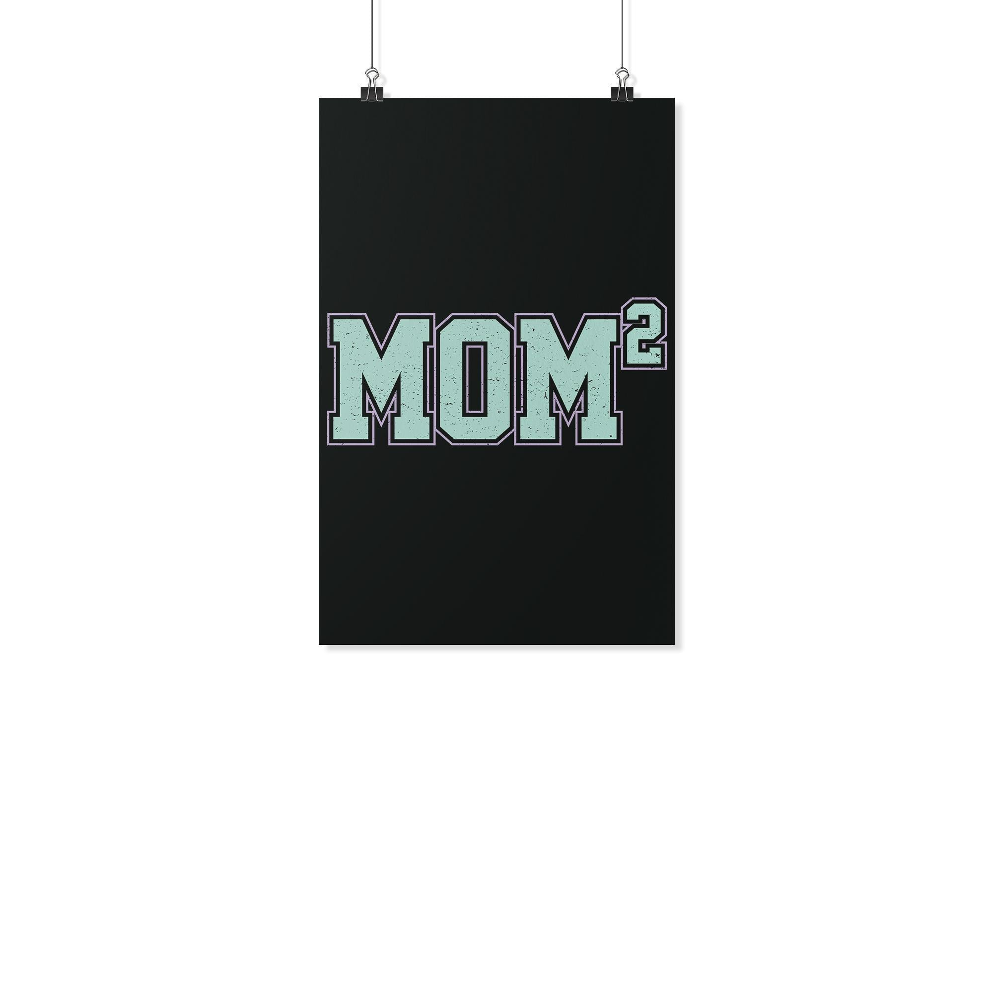 Mom2 Square Funny Cute Mothers Day Poster Wall Art Home Room Decor Gif