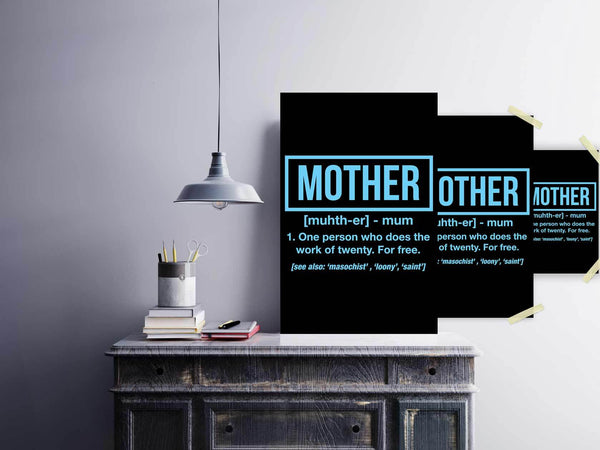 Mother 1 Person Who Does The Work Of 20 For Free Funny Cute Poster Wall Art Home-Posters 2-JoyHip.Com