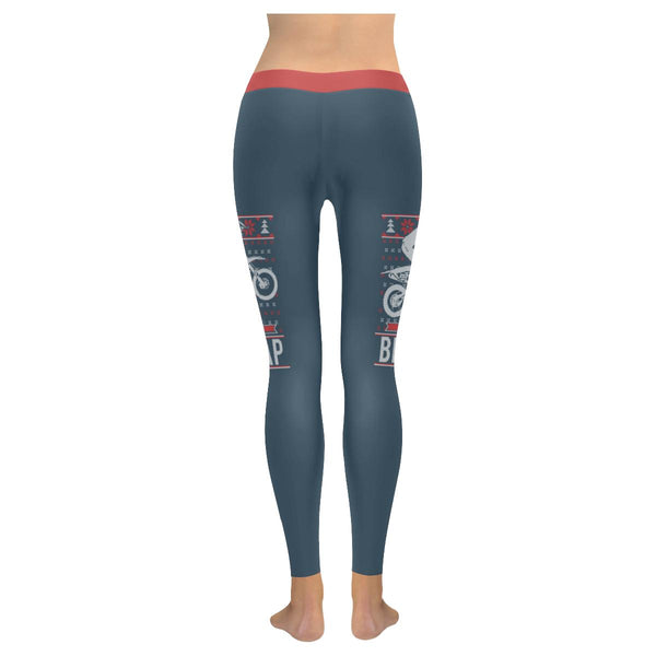 Motorcycle Dirt Bike Motocross Braaap Gift Ideas Ugly Christmas Womens Leggings-JoyHip.Com