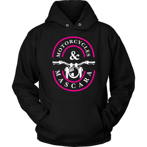 Motorcycles & Mascara Uncommon Unique Funny Bikers Gift Ideas Hoodies-T-shirt-Unisex Hoodie-Black-JoyHip.Com