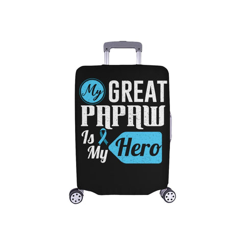 My Great Papaw Is My Hero Prostate Cancer Awareness Travel Luggage Cover Baggage-S-Black-JoyHip.Com