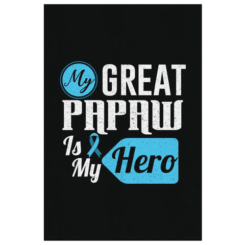 My Great Papaw Is My Hero Prostate Cancer Canvas Wall Art Room Decor Home Gifts-Canvas Wall Art 2-8 x 12-JoyHip.Com