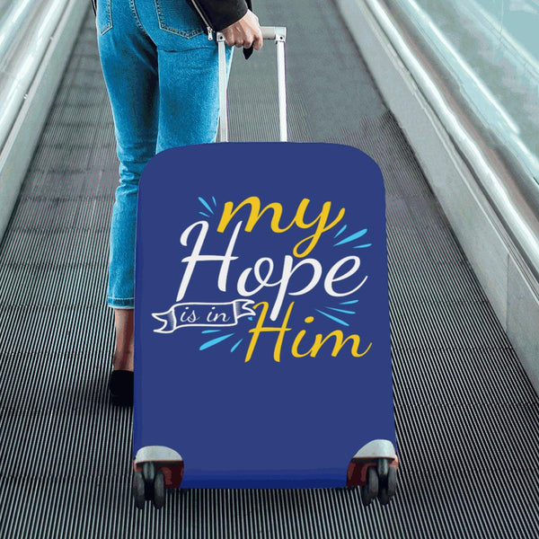 "My Hope Is In Him Christian Travel Luggage Cover Suitcase Protector Fits 18""-28""-JoyHip.Com"