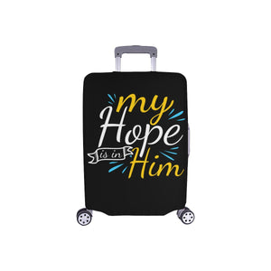 "My Hope Is In Him Christian Travel Luggage Cover Suitcase Protector Fits 18""-28""-S-Black-JoyHip.Com"