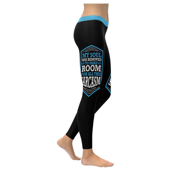 My Soul Was Removed To Make Room For All This Sarcasm Humor Funny Women Leggings-XXS-Black-JoyHip.Com