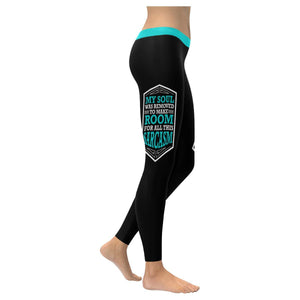My Soul Was Removed To Make Room For All This Sarcasm Soft Leggings For Women-XXS-Black-JoyHip.Com