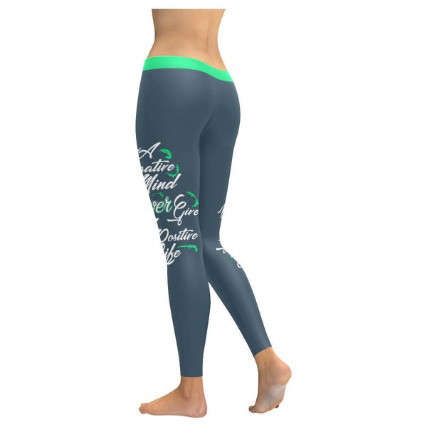 Negative Mind Will Never Give You A Positive Live Motivational Womens Leggings-JoyHip.Com