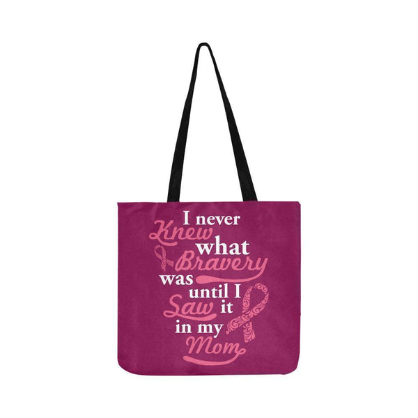 Never Knew What Bravery Was Until I Saw It In My Mom Lovely Reusable Produce Bag-One Size-Maroon-JoyHip.Com