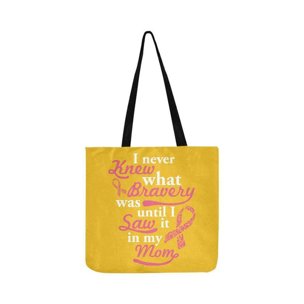 Never Knew What Bravery Was Until I Saw It In My Mom Lovely Reusable Produce Bag-One Size-Yellow-JoyHip.Com