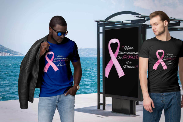 Never Underestimate The Power Of A Women Breast Cancer Awareness Gift TShirt-T-shirt-JoyHip.Com
