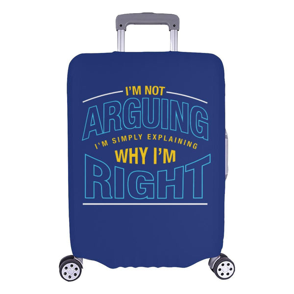 Not Arguing Simply Explaining Why Right Sarcastic Travel Luggage Cover Suitcase-L-Navy-JoyHip.Com