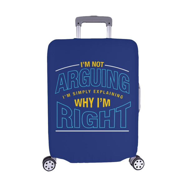 Not Arguing Simply Explaining Why Right Sarcastic Travel Luggage Cover Suitcase-M-Navy-JoyHip.Com