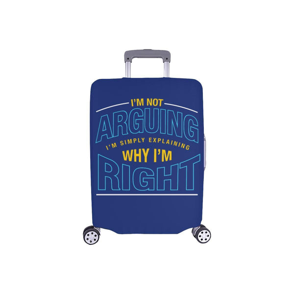 Not Arguing Simply Explaining Why Right Sarcastic Travel Luggage Cover Suitcase-S-Navy-JoyHip.Com