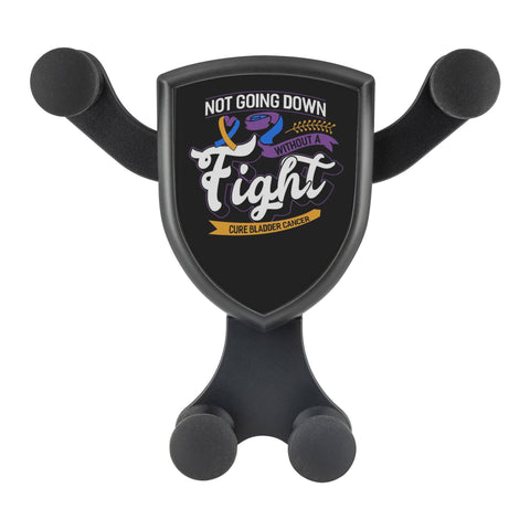 Not Going Down Without A Fight Cure Bladder Cancer Qi Wireless Car Charger Mount-Gravitis Car Charger-Gravitis - Wireless Car Charger-JoyHip.Com
