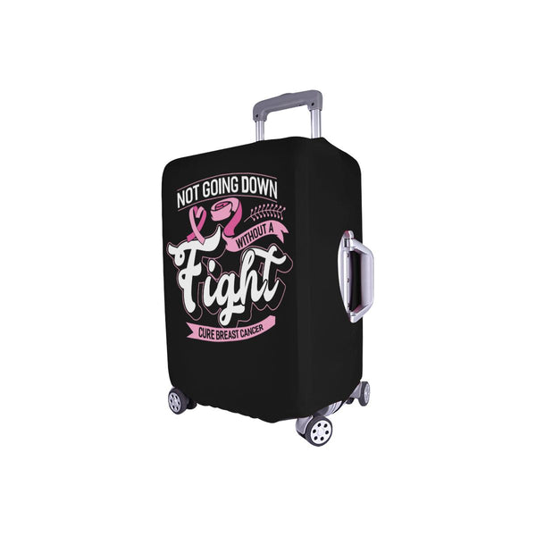 Not Going Down Without A Fight Cure Breast Cancer Travel Luggage Cover Protector-JoyHip.Com