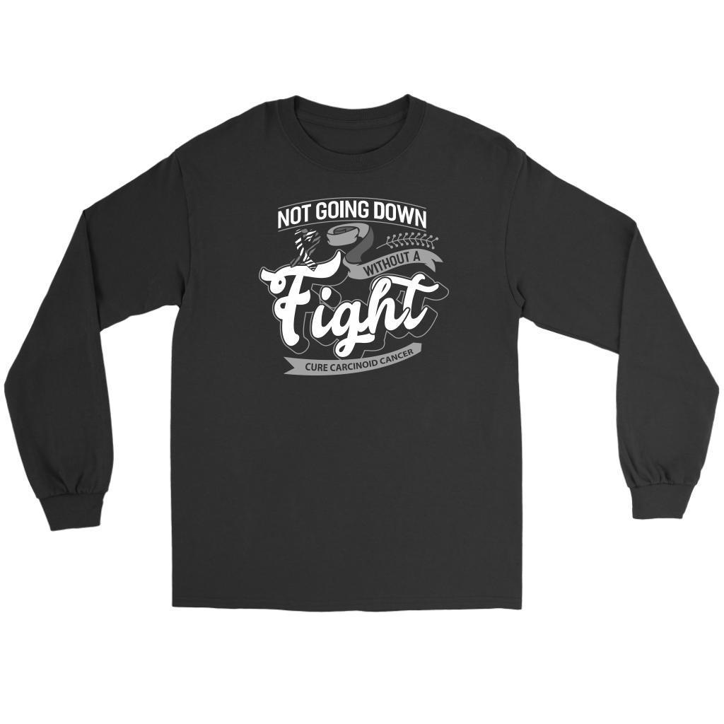 Not Going Down Without A Fight Cure Carcinoid Cancer Awareness Ideas Long Sleeve-T-shirt-Gildan Long Sleeve Tee-Black-JoyHip.Com