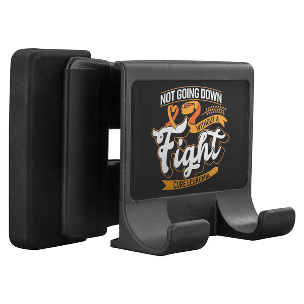 Not Going Down Without A Fight Cure Leukemia Cancer Phone Monitor Holder Laptop-Moniclip-Moniclip-JoyHip.Com
