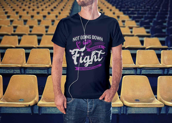 Not Going Down Without A Fight Cure Pancreatic Cancer Awareness Gift Idea TShirt-T-shirt-JoyHip.Com