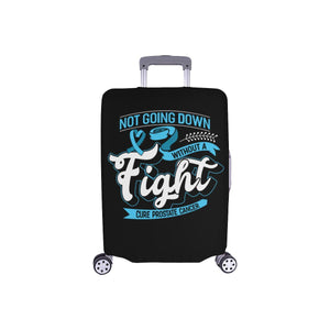 Not Going Down Without A Fight Cure Prostate Cancer Travel Luggage Cover Baggage-S-Black-JoyHip.Com