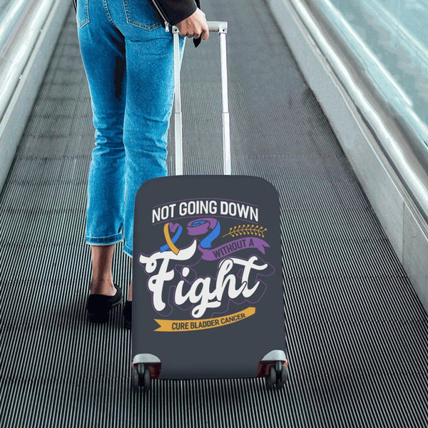 Not Going Down Without Fight Cure Bladder Cancer Travel Luggage Cover Protector-JoyHip.Com