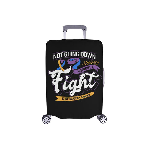 Not Going Down Without Fight Cure Bladder Cancer Travel Luggage Cover Protector-S-Black-JoyHip.Com