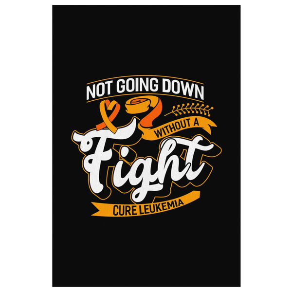 Not Going Down Without Fight Cure Leukemia Cancer Canvas Wall Art Home Decor-Canvas Wall Art 2-8 x 12-JoyHip.Com