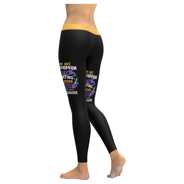 Not Superman But Fighting Bladder Cancer Blue Yellow Purple Leggings For Women-JoyHip.Com