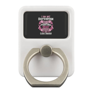 Not Superman But Fighting Breast Cancer So Close Enough Phone Ring Holder Gifts-Ringr - Multi-Tool Accessory-Ringr - Multi-Tool Accessory-JoyHip.Com