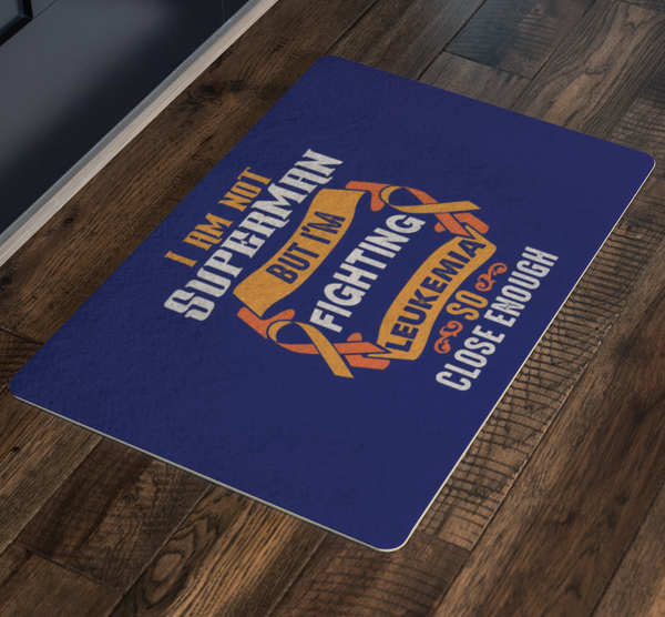 Not Superman But Fighting Leukemia Cancer 18X26 Thin Indoor Door Mat Entry Rug-Doormat-JoyHip.Com
