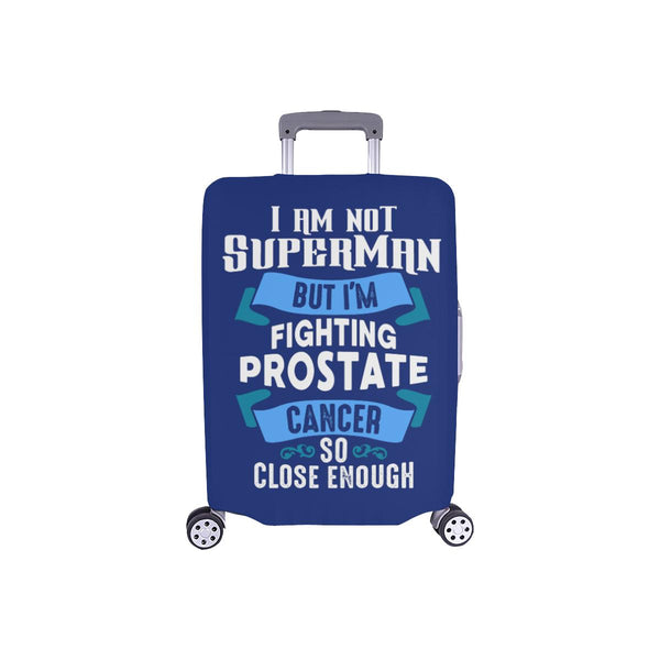 Not Superman But Fighting Prostate Cancer So Close Enough Travel Luggage Cover-S-Navy-JoyHip.Com
